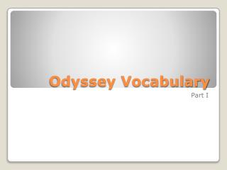 Odyssey Vocabulary