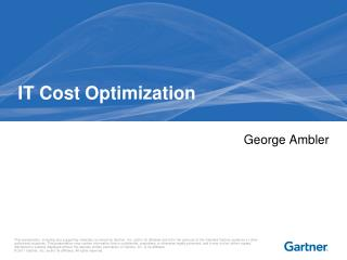 IT Cost Optimization