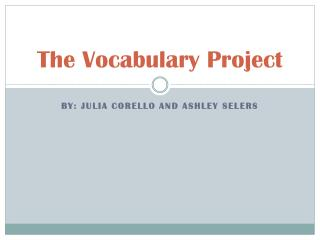 The Vocabulary Project