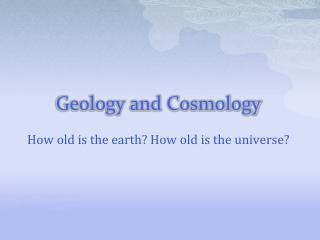Geology and Cosmology