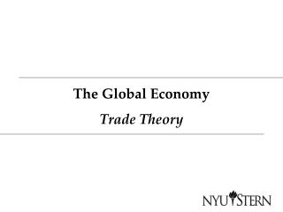 The Global Economy Trade Theory