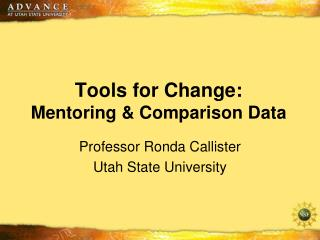 Tools for Change: Mentoring & Comparison Data