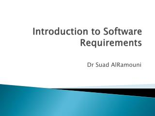 Introduction to Software Requirements