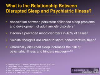 What is the Relationship Between Disrupted Sleep and Psychiatric Illness?