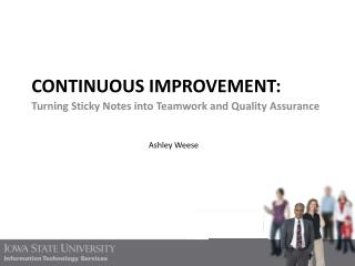 Continuous improvement: