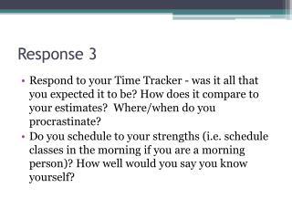 Response 3