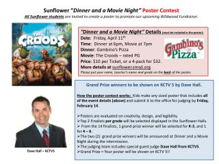 "Sunflower "" Dinner and a Movie Night"" Poster Contest"