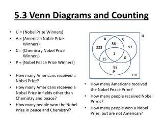5.3 Venn Diagrams and Counting