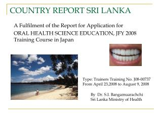 COUNTRY REPORT SRI LANKA