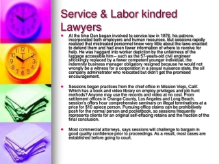 Service & Labor kindred Lawyers