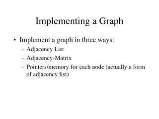 Implementing a Graph