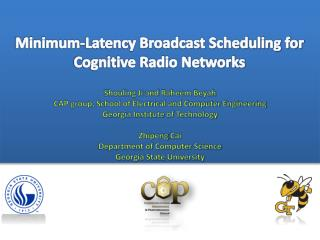 Minimum-Latency Broadcast Scheduling for Cognitive Radio Networks