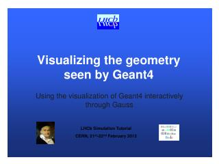 Visualizing the geometry seen by Geant4