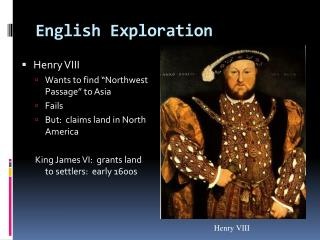 English Exploration