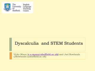 Dyscalculia  and STEM Students