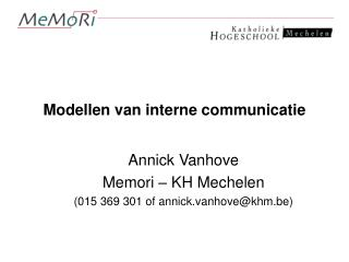 Modellen van interne communicatie