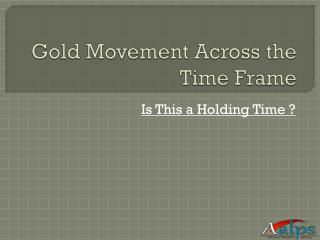 Gold Movement Across the Time Frame