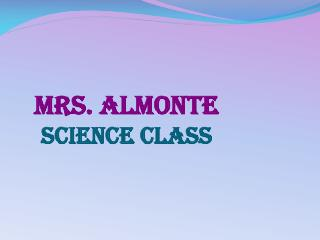 Mrs. Almonte Science class