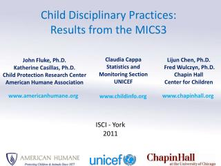 Child Disciplinary Practices:  Results from the  MICS3