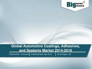 Global Automotive Coatings, Adhesives, and Sealants Market 2