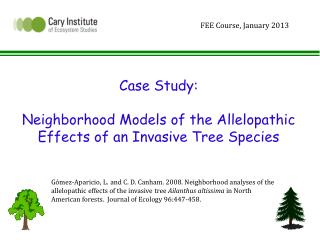 Case  Study:  Neighborhood Models of the Allelopathic Effects of an Invasive Tree Species