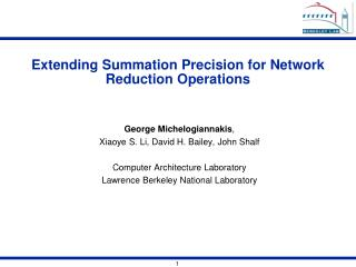 Extending Summation Precision for Network Reduction Operations