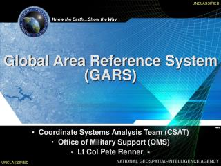 Global Area Reference System (GARS)