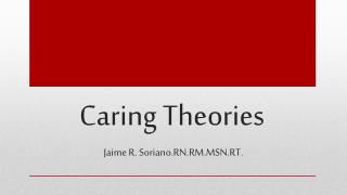 Caring Theories