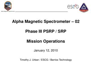 AMS02 Mission Operations