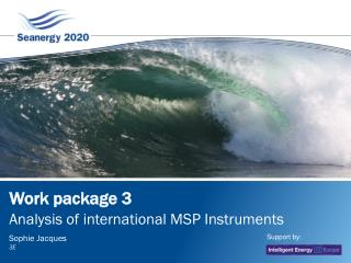 Work package 3:	 International Maritime Spatial Planning Instruments