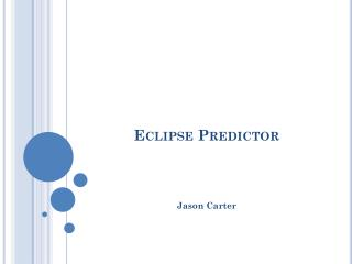 Eclipse  Predictor