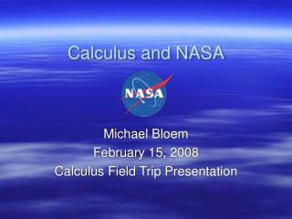 Calculus and NASA