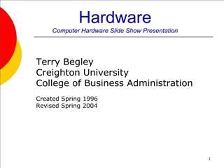 Hardware Computer Hardware Slide Show Presentation
