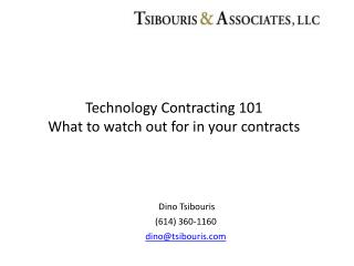 Technology Contracting 101  What to watch out for in your contracts