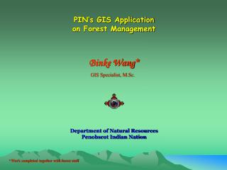 PIN's GIS Application  on Forest Management