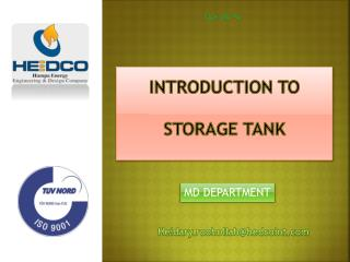 introduction to  storage tank