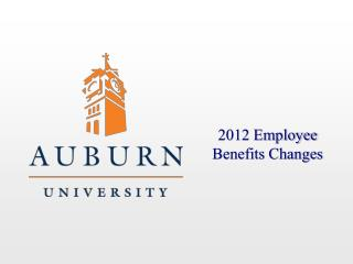 2012 Employee Benefits Changes