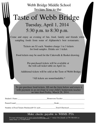 Taste of Webb Bridge
