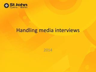 Handling media interviews