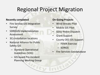 Regional Project Migration
