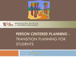 Person Centered Planning - Transition Planning  for Students
