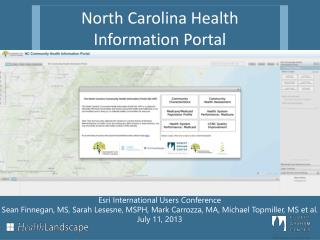 North Carolina Health Information Portal