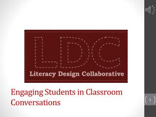Engaging Students in Classroom Conversations