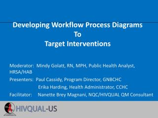 Developing Workflow Process Diagrams To Target Interventions