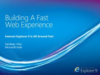 Building A Fast  Web Experience