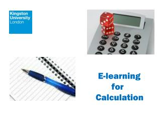 E-learning        for    Calculation