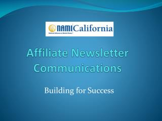 Affiliate Newsletter Communications
