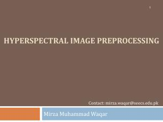 Hyperspectral Image preprocessing