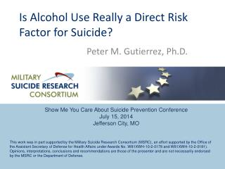 Is Alcohol Use Really a Direct Risk Factor for Suicide ?