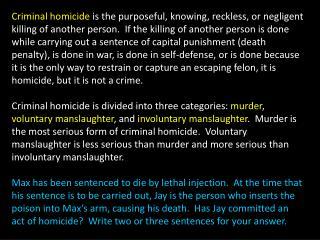 Homicide*